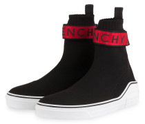 Hightop-Sneaker GEORGE - SCHWARZ/ ROT