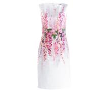 Kleid JESSICA - weiss/ pink/ grün