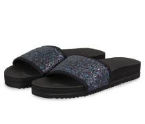Sandalen POOL GLITTER - schwarz