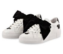 Plateau-Sneaker mit abnehmbarer Schleife