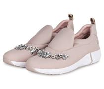 Slip-on-Sneaker mit Schmucksteinbesatz