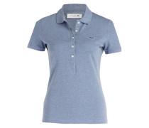 Piqué-Poloshirt - blau meliert