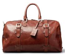 Leder Handgepäck Reisetasche in Braun