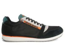 Anthrazitgraue Sneaker mit weiß-oranger Sohle Slocker S
