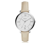 Jacqueline Stainless Steel Women's Watch w/Leather Band