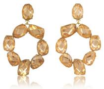 Ohrclips mit Kristallen in Rosa Blossom und Vintage Gold