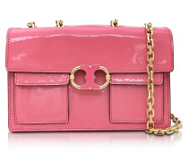 Gemini Link Cosmo Schultertasche aus Lackleder in pink