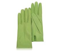 Mintgrüne Damenhandschuhe aus italienischem Leder