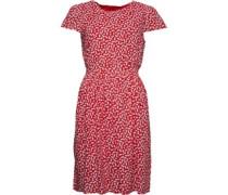 Druck Kleid Rot