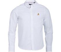 Pomp Hemd mit langem Arm Weiß