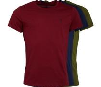 Drei Pack T-Shirt Burgunderrot