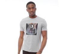 Target Guitar Druck T-Shirt Hellmeliert