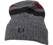 Tipped Beanie Mütze Graumeliert