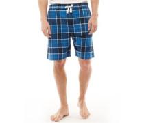 Karo Lounge Pyjama Shorts Navy kariert