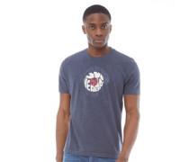 MOD Target Druck T-Shirt Navymeliert