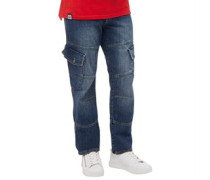 Saddle Jeans in Slim Passform Mittel