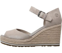Womens Nice Coast Ankle Strap Wedge Sandals Simply Taupe