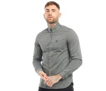 Tonic Gingham Hemd mit langem Arm Dunkelgrün