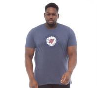 Übergröße MOD Target Druck T-Shirt Navymeliert
