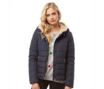 Womens Shelly Short Hooded Puffer Jacket Night Sky