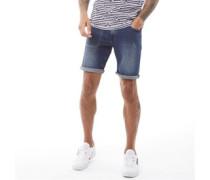A139 Denim Shorts Mittelblau