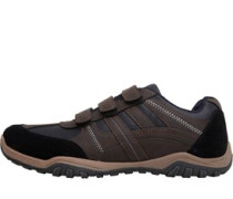 Velcro Freizeit Schuhe Dunkelbraun