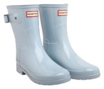 Original Womens Refined Short Gloss Wellington Boots Fountain Blue