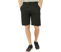 Ribbed Shorts Schwarz