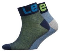 168SF Mid Cut Box Logo Zwei Pack Socken