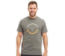 Druck T-Shirt Mittelgrau