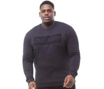 Übergröße Flock Logo Sweatshirt Verblasstes