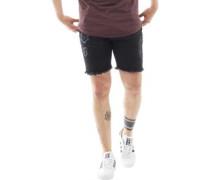 Mens Stone M Denim Shorts Charcoal Marl