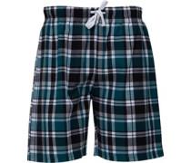 Karo Pyjama Shorts Grün