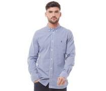 Gingham Hemd mit langem Arm Blau