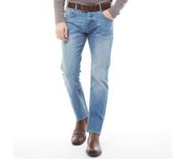 Stretch Jeans mit geradem Bein Hell