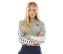 Authentic 222 Banda Bacroy Crop Sweatshirt Mittelmeliert