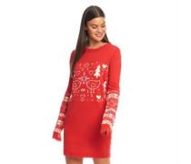 Weihnachten Strickkleid Rot