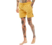 Mens Botones Swim Shorts Amber Gold