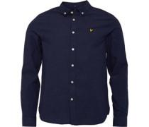 Multi Colour Running Stitch Hemd mit langem Arm Navy