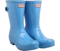 Original Womens Back Adjust Short Gloss Wellington Boots Forget Me Not
