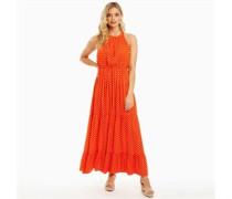 Skye Druck Maxi Kleid Orange