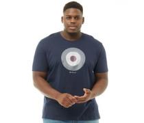 Übergröße Check Target T-Shirt Navy