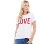 Riva Love Print T-Shirt Weiß