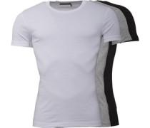 3 Pack T-Shirt Schwarz
