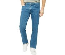 L8 Jeans mit geradem Bein Gewaschtes Steingrau