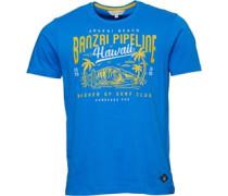 Druck T-Shirt Königsblau