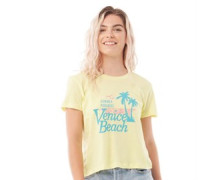 Lilana T-Shirt Gelb