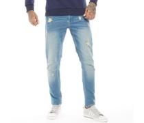 Jogg Jeans in Slim Passform Verblasstes Mittel