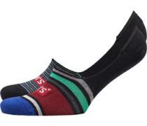 168 Series Streifen Zwei Pack Socken Burgunderrot