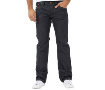 Larkee 8Z8 Wash Jeans mit geradem Bein Dunkelindigo